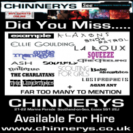 CHINNERYS 21-22 Marine Parade Southend on Sea Essex SS1 2EJ Tel: 01702 467305 http://chinnerys.co.uk/ Chinnerys is the main live music venue in Southend and the surrounding area (with a large […]